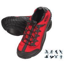 Tênis Esportivo Anfibius Cardume Permeável Unissex Vermelho 35 á 46 -