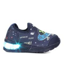 Tênis Infantil Bibi Led Space Wave Astronalta Masculino -