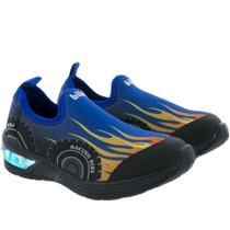 Tênis Infantil Bibi Racing com Led Neoprene Azul -
