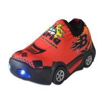 Tênis Infantil Carro Calce Fácil Luzes Led - Botinho