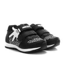 Tênis Infantil Disney Mickey Mão Jogging Velcro Masculino -