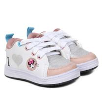 Tênis Infantil Disney Minnie Fashion Glitter Feminino -