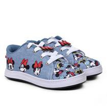 Tênis Infantil Disney Minnie Fashion Jeans Feminino -
