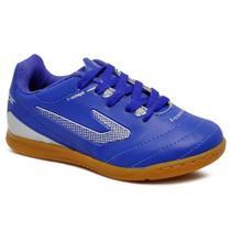 Tênis infantil Futsal Topper azul/prata - 4203486 -