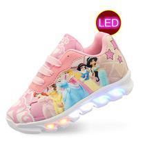 Tenis infantil led luzinha Princesas feminino meninas Eds - Pemania