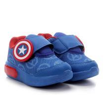 Tênis Infantil Marvel Capitão América Velcro Gel -