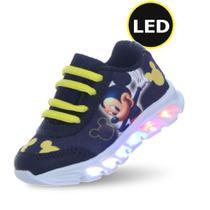 tenis infantil masculino mickey com led luzes PC - P.C