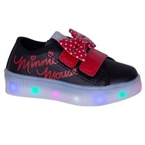 Tênis Infantil Minnie com Led Preto - Diversão - Sugar shoes