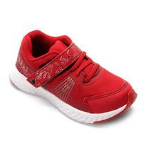 Tênis Infantil No Stress Detalhe Velcro Running -
