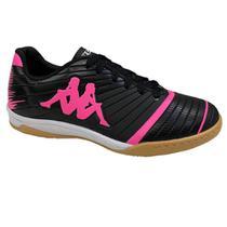 Tênis Kappa Futsal 8358 Preto Rosa -