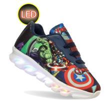 Tenis LED luzinha infantil Avengers Vingadores masculino - Pemania