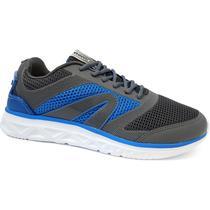 Tenis masculino heat 4201149 - rainha (07) - chumbo/azul -