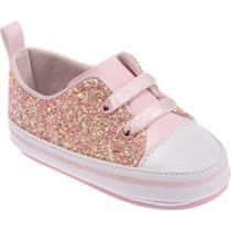 Tênis para Bebês - Feminino - Glitter Rosa - Pimpolho -