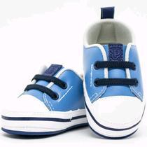 Tênis Para Bebês Tamanho 19 Azul e branco Pimpolho 27265C -