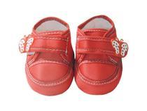 Tênis Vermelho de Bebê menina com Aplique de Borboleta - K Anjos