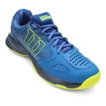 Tenis Wilson K Energy Masculino Azul e Verde Limão -