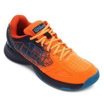 Tenis Wilson K Energy Masculino Laranja e Azul -