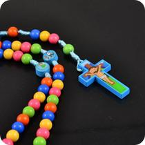 Terço rosário infantil para crianças colorido - Armazem