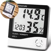 Termo Higrometro Digital Relogio Medidor Temperatura Humidade De Mesa (56192/1928) - Ideal