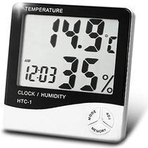 Termo Higrômetro Digital Relógio Termômetro Sensor Umidade - Tomate