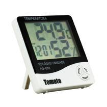 Termo Higrômetro Relógio Digital Medidor Umidade e Temperatura - Tomate