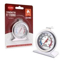 Termômetro  Analógico Em Inox Para Forno 600 Com Base - Wincy