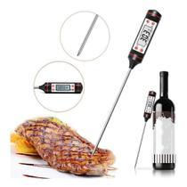 Termômetro Culinário Digital Espeto Alimento A Prova D'água Carnes Bolos Liquidos -50 a 300 - Gfone