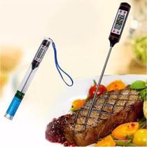 Termômetro culinário digital espeto alimento bebida cozinha - Clock