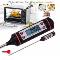 Termômetro Culinário Digital Espeto Cozinha Quente E Frio  -50 ºC +380 ºC - Exbom