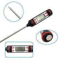 Termometro Culinario Digital Espeto para Alimento Cozinha Plástico e Inox - Clk - Util