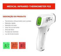Termômetro Digital Infravermelho Testa - com ANVISA - 2 Pilhas Incluídas - Loye