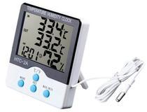 Termômetro E Higrômetro Digital Com Máxima E Mínima Interna E Externa HTC-2A - Oksn