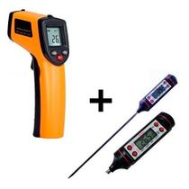 Termômetro Infravermelho Culinário + Termômetro Digital Espeto Frigopro -