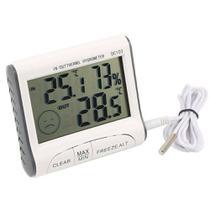 Termômetro Interno E Externo Com Higrômetro Interno Digital Com Máxima E Mínima Dc103 - Oskn