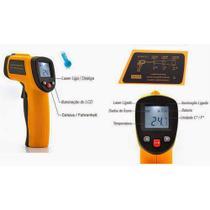 Termômetro LASER Sensor Medidor Temperatura Digital Distância Faixa De Temperatura: -50 A 380ºC Tem - Feir
