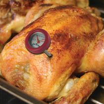 Termomêtro para Aves e Carnes de Aço Jim Beam Vermelho com 4 Peças - Etna
