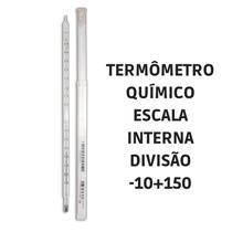 Termômetro químico escala interna -10+150 5004 Incoterm -