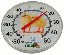 Termômetro tipo relógio para ambiente - diâmetro 35 cm - Incoterm