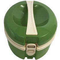 Termoprato 1,5l Marmita Prato Triplo Térmico Alça Microondas Verde - Zanline