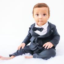 Terno Social para Bebê Com Gravata para Festas, Casamento e Batizado - Louli Baby