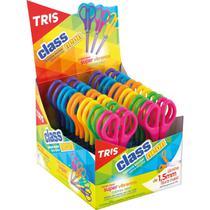 Tesoura escolar tris class neon 13cm. cores so dp.c/24 - Summit