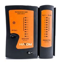 Testador de cabos de rede RJ45 RJ11 AL-1014 Hayom -