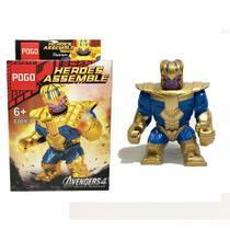 Thanos Vingadores Ultimato Marvel Blocos de Montar Boneco Big Figure PG-6009-1 - Pogo