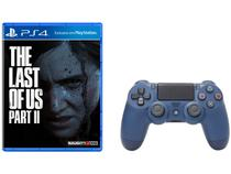 The Last of Us Part II para PS4 + Controle - para PS4 sem Fio Dualshock 4 Sony Midnight Blue