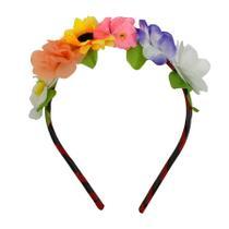 Tiara de Flores Coloridas - Festabox