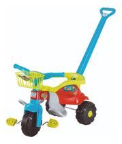 Tico Tico Festa Azul Motoca Infantil Com Cestinha - Magic Toys