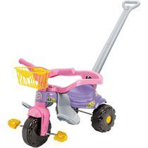 Tico Tico Festa Rosa Motoca Triciclo Infantil Com Cestinha - Magic Toys