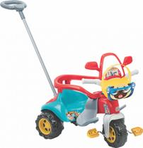 Tico-tico Triciclo Menino Zoom Max Com Aro de Proteção Haste Suporte para os pés - Magic Toys 2710L -