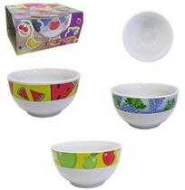 Tigela de Porcelana Redonda Bowl Frutas Sortidas 500ml - Sao Francisco -