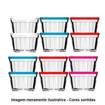 Tigela de Vidro Americano 4010 600ml 12 Peças Cores Sortidas Grande - Nadir -